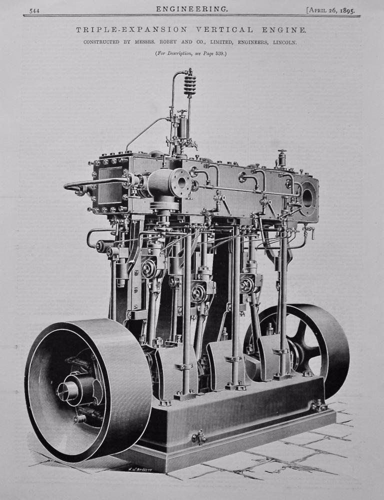Triple-Expansion Vertical Engine.  1895.