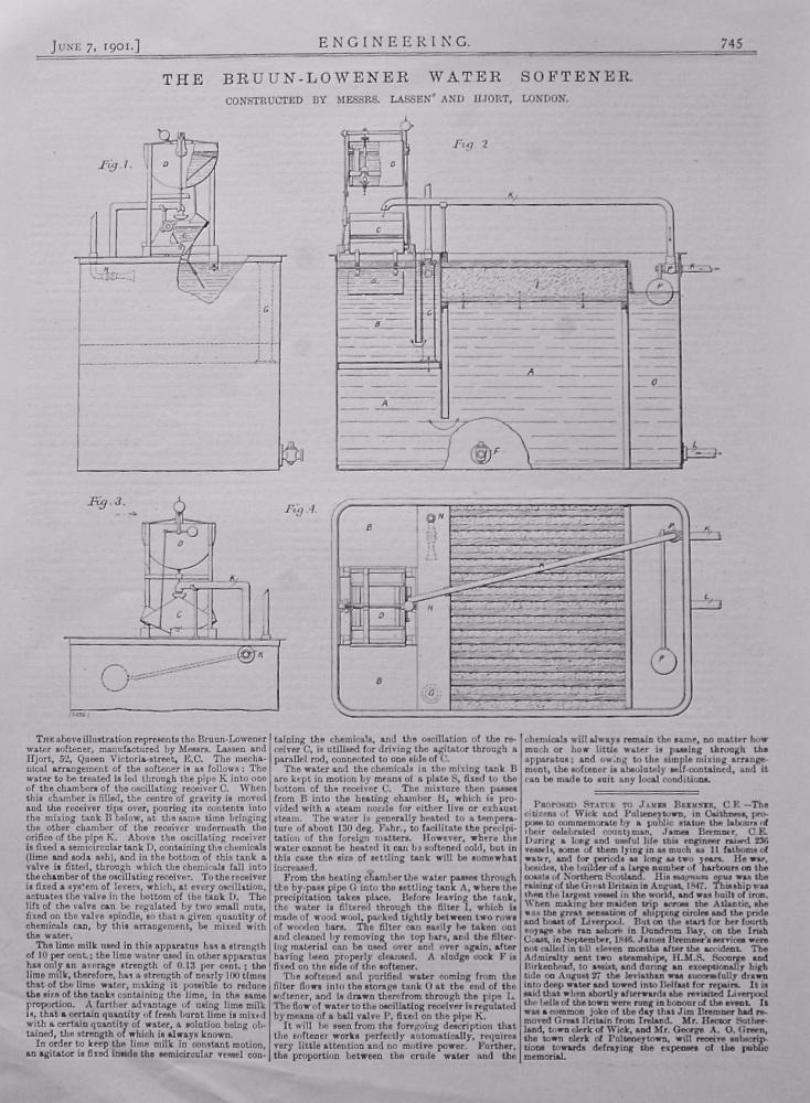 The Bruun-Lowener Water Softener.  1901