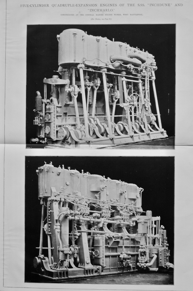 "Engines of the ""Inchdune"" and ""Inchmarlo."" 1901."