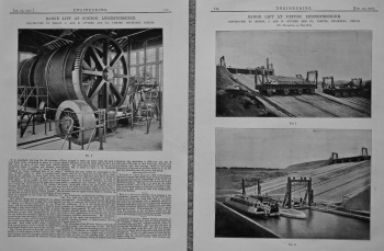 Barge Lift at Foxton, Leicestershire.  1901.