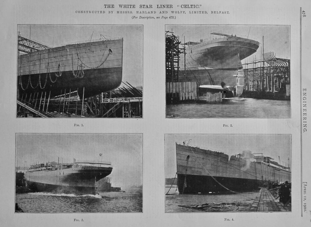 """The White Star Liner """"Celtic."""" 1901."""