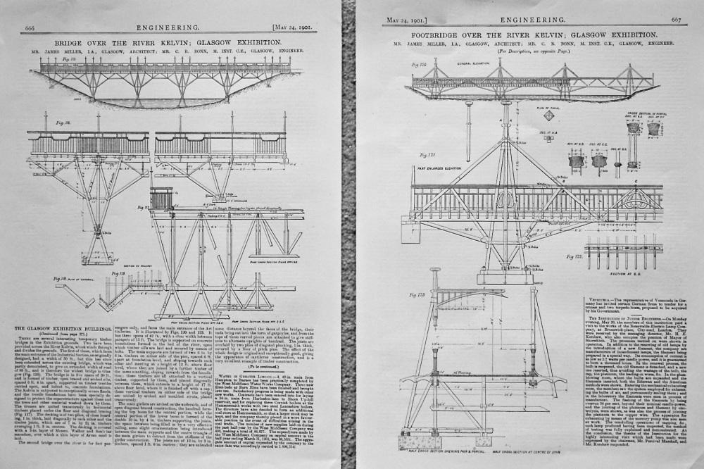 Bridge over the River Kelvin. 1901.