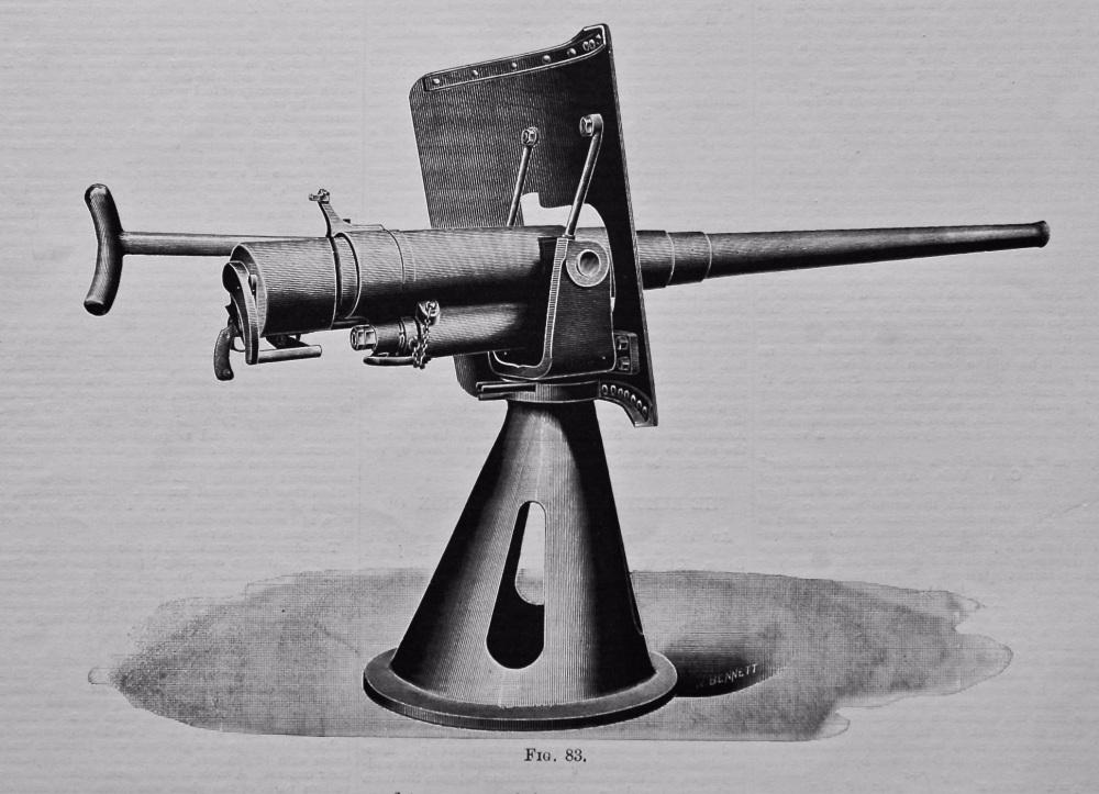 Wheeled and Cone Mounts for Nordenfelt Guns. 1895.