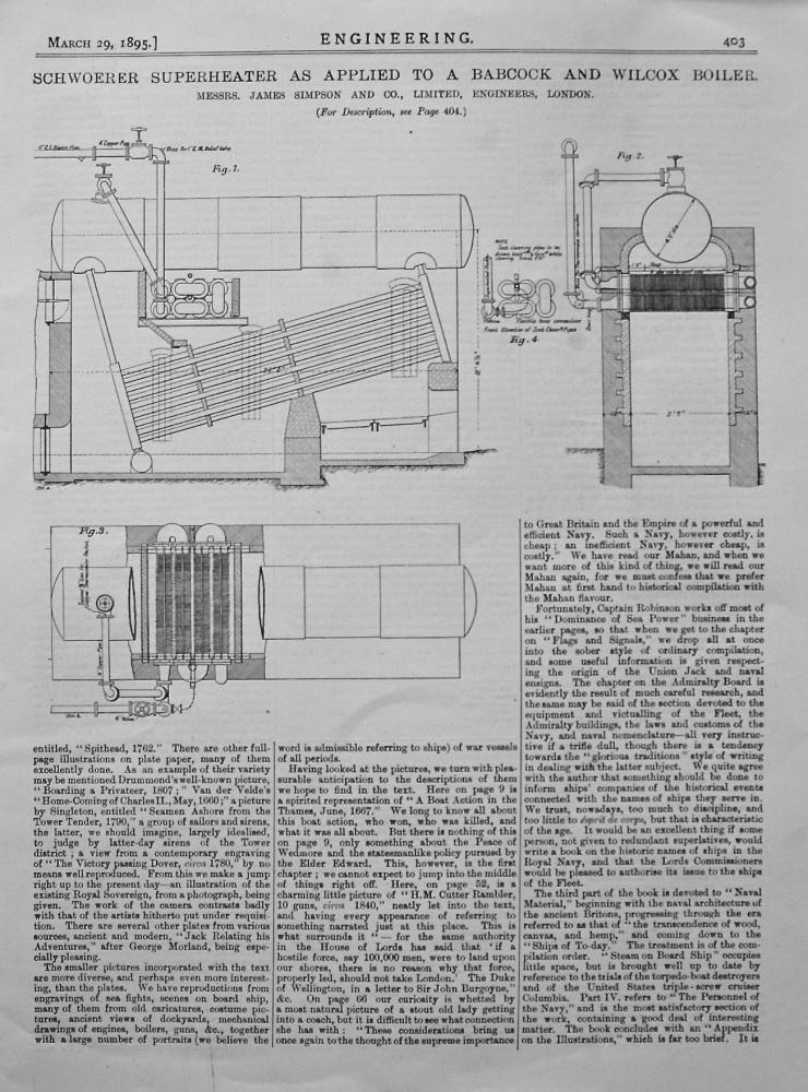 Test of a Schwoerer Superheater. 1895.