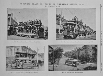 Electric Traction : Types of American Street Cars. 1895.