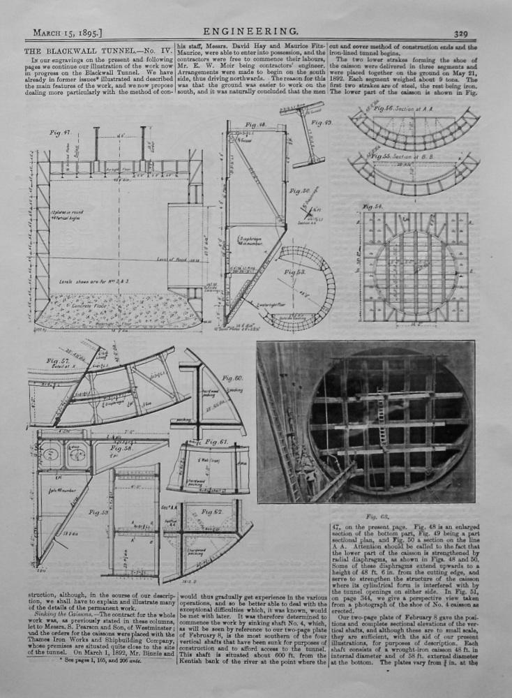 The Blackwall Tunnel.- No. IV.  1895.