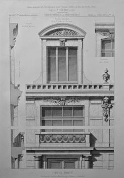Hotel Prive, Boulevard Latour - Maubourg, a Paris. - Details. 1878.