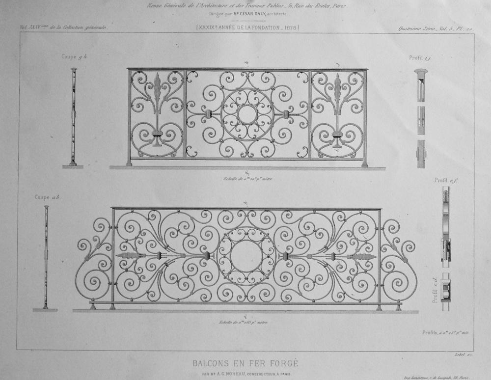 Balcons En Fer Forge. 1878.