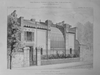 Atelier De Pientre. Boulevard Arago, No. 57, a Paris.- Vue Perspective. 1878.