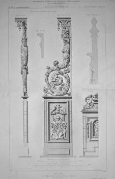 Stalles, de Eglise Saint-Sernin, a Toulouse._ Details. 1878.