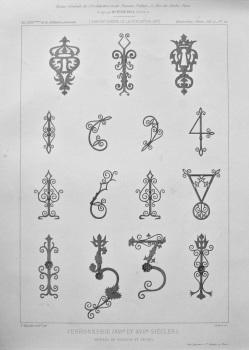 Ferronnerie (XVIe. Et XVIIe. Siecles) Entrees de Serrure et Ancres. 1877.