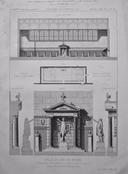 Salle Du Jeu De Paume, a Versailles (Seine-et-Oise). _ Plan, Coupes et Details. 1882.