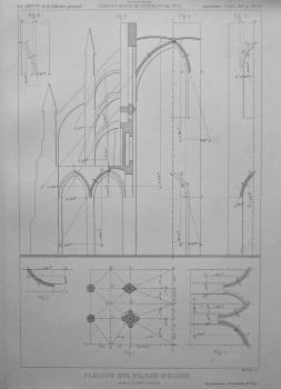 Flexion Des Piliers D'Eglise.  1877.