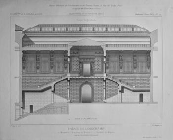 Palais De Longchamp, a Marseille (Bouches-du-Rhone). _ Escalier du Musee.  1882.