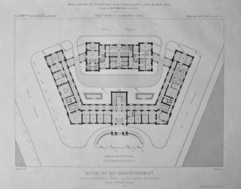 Mairie Du XIIe. Arrondissement, Avenue Daumesnil, a Paris. _ Plan Du Rez-de-Chaussee. 1882.