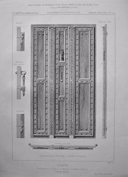 Porte Presbytere de L'Eglise St. Michel, a Gaillac (Tarn).  1882.