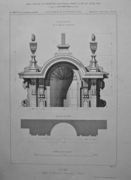 June. Eglise St. Etienne, a Toulouse. _ Details.  1882.