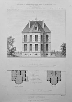 Jardin Botanique, a Caen (Calvados) _ Pavillon du Conservateur. 1875.
