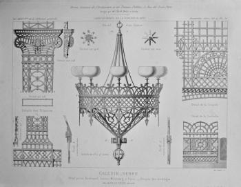 Galerie_Serre, Hotel prive, Boulevard Latour- Maubourg, a Paris._ Details des treillages.  1877.