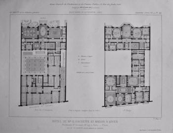 Hotel De Mr. G. Hachette Et Maison a Loyer. Boulevard St. Germain, No. 197, a Paris.__Plans. 1882.