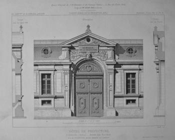 Hotel De Prefecture, a Grenoble (lsere)_ Entree des Bureaux. 1875.