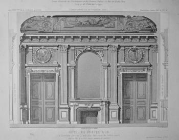 Hotel De Prefecture, a Grenoble (lere)_ Vue d'un des cotes du Salon carre. 1875.