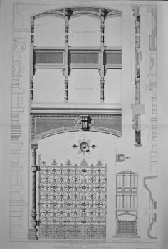 Magasins Reunis, Place de Chateau d'Eau, a Paris._ Travee centrale de la Facade. 1877.