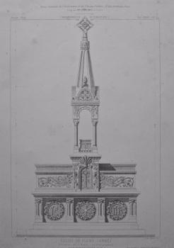 Eglise De Flers (Orne). Elevation de L'Autel. 1872