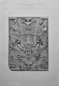 Panneau Sculpte. (d'apres une Photographie de Mr. Franck). 1872.