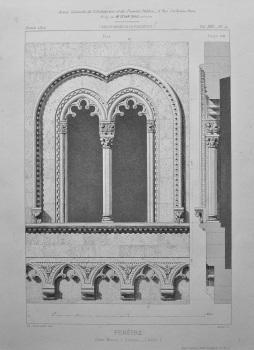 Fenetre. d'une Maison a Gensano _ (Italie). 1872.