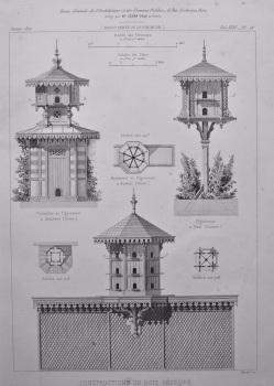 Constructions en Bois Decoupe. 1872.