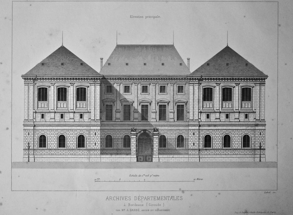 Archives Départementales a Bordeaux (Gironde). 1872.