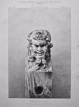 Priape A Gaine. (d'apres une photographie de Mr. Franck). 1872.