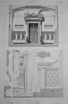Palais De Justice, a Paris. Vestibule des Salles d'Audience. 1867.