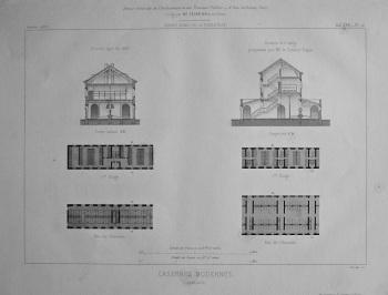 Casernes Modernes. Cavalerie.  1867.