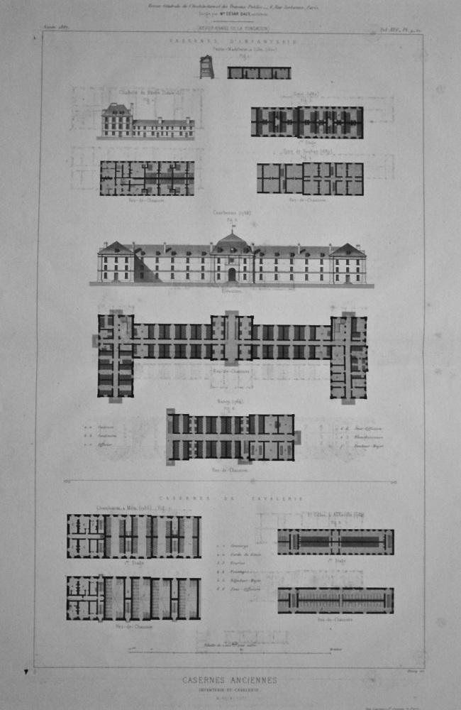 Casernes Anciennes. Infanterie et Cavalerie.  1867.