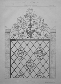 Grille, a Offenbourg. (Bade). 1867.