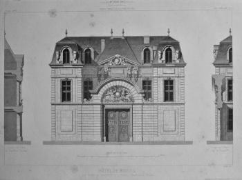 Hotel De Biseuil, Rue Vieille du Temple, No. 47, a Paris._ Elevation et Coupes. 1867.