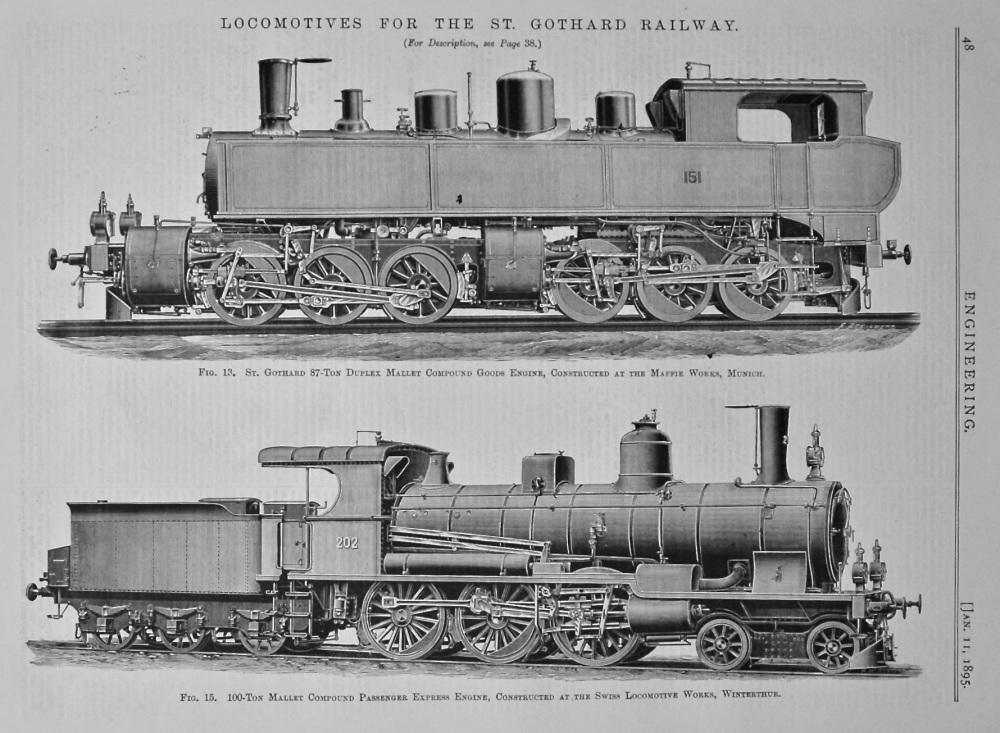 Locomotives for the St. Gothard Railway. 1895.