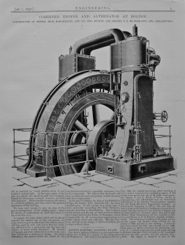 Combined Engine and Alternator at Bolton. 1897.