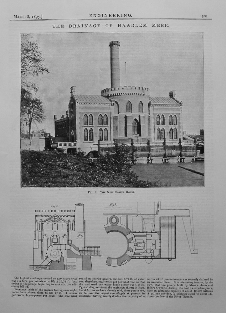The Drainage of Haarlem Meer. 1895.