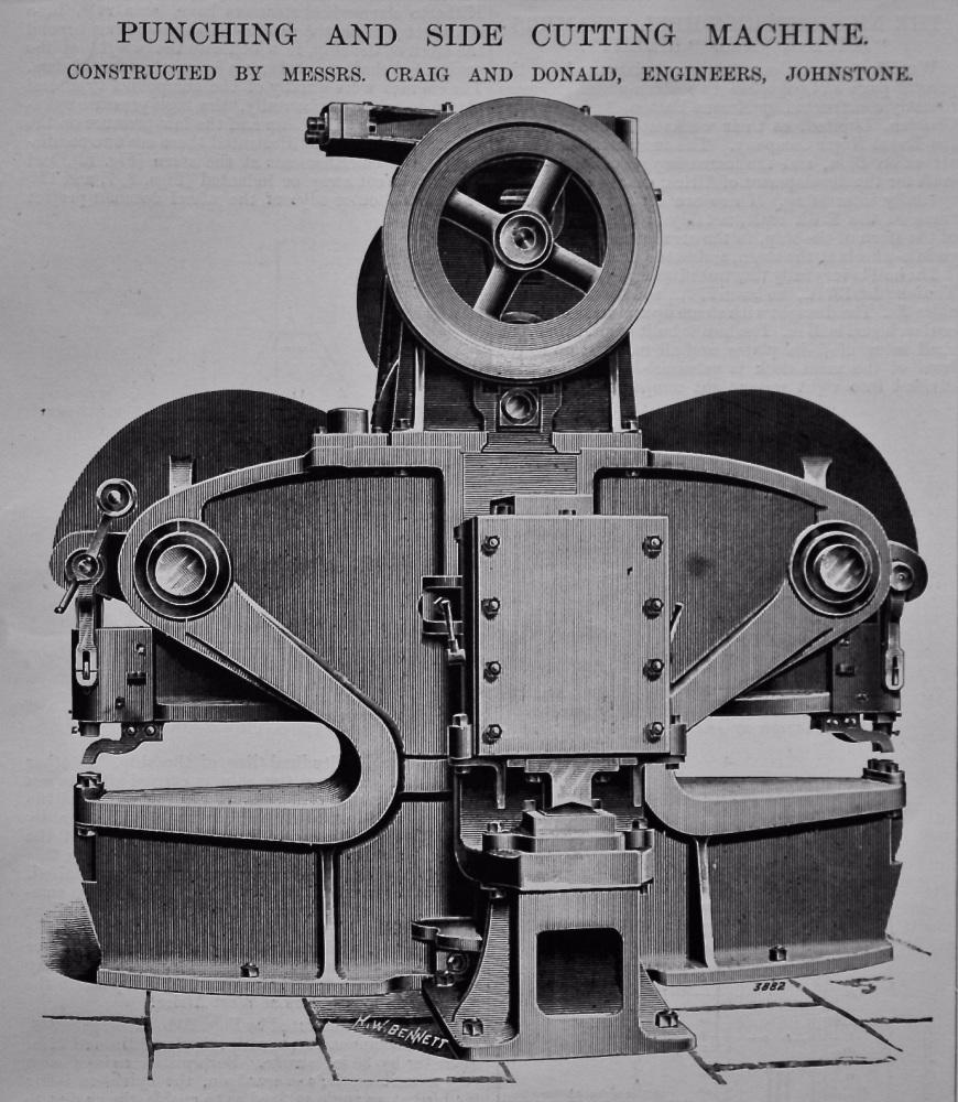 Punching and Side Cutting Machine. 1897.