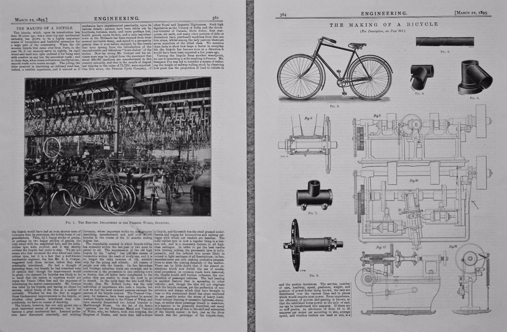 The Making of a Bicycle.  1895.
