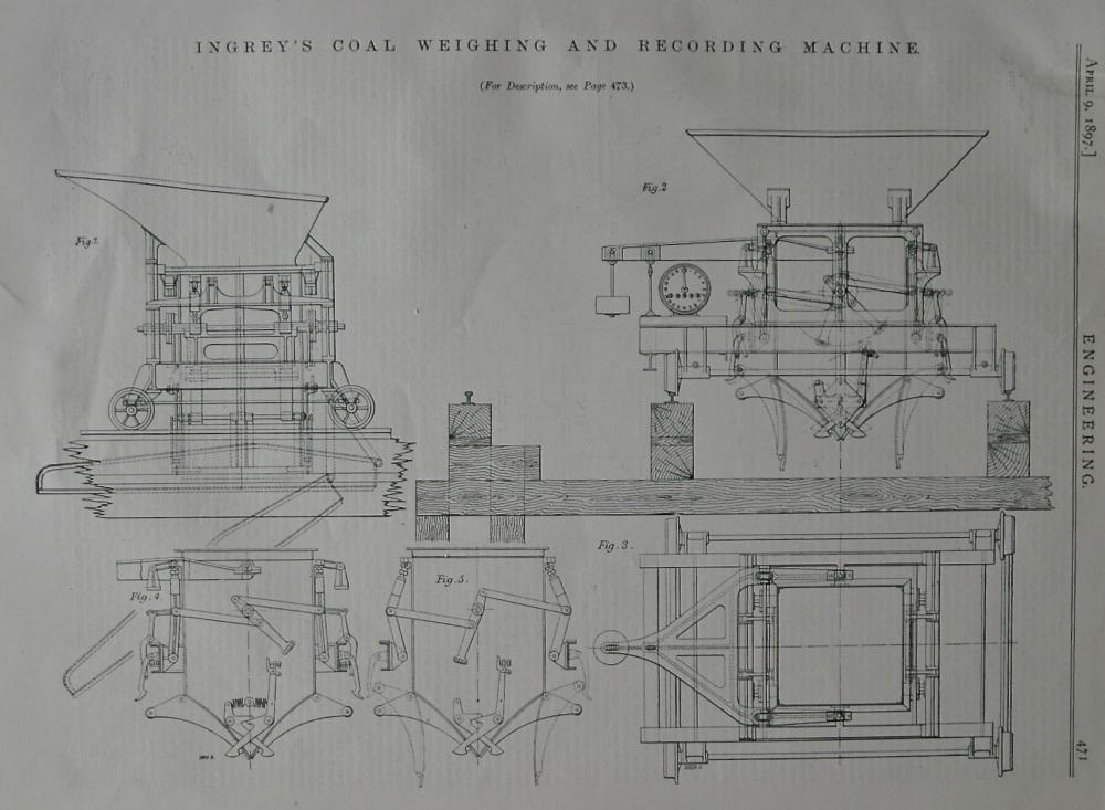 Ingrey's Coal Weighing and Recording Machine.  1897.