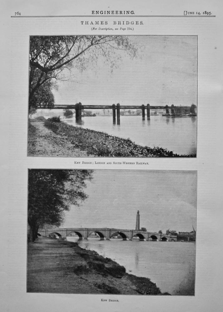 Thames Bridges : Kew Bridge ; London and South-Western Railway. & Kew Bridge.