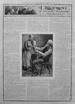 A Argument. Written by Maarten Maartens, illustrated by L. Daviel. 1907.