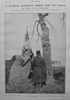 A Russian Standard which Lost its Eagle in Battle with the Japanese. 1905.