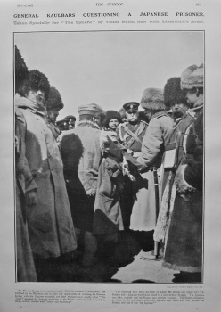 General Kaulbars Questioning a Japanese Prisoner. 1905.