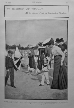 Ye Mariners of England at the Round Pond in Kensington Gardens. 1902.