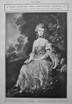 """A Play-Actress who Captivated George IV.  Gainsborough's Portrait of """"Pertida"""" Robinson in the Wallace Collection. 1902."""